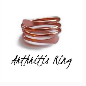 Solid Copper Hammered Spiral Ring